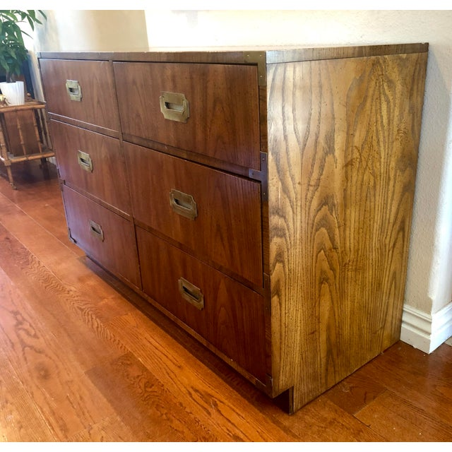 1960s Dixie Campaigner Six Drawer Dresser For Sale - Image 5 of 9