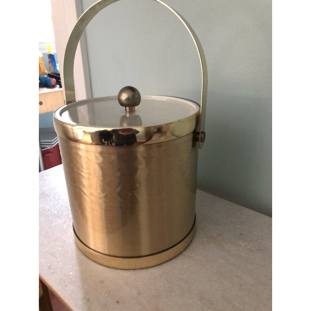Towle Silversmiths Towle Vintage Gold Metal Insulated Ice Bucket For Sale - Image 4 of 8