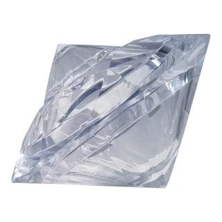 1970s Mid-Century Modern Alessandro Albrizzi Diamond Shape Lucite Ice Bucket