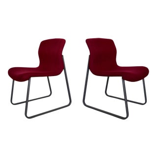 Postmodern Michael McCoy Knoll Bulldog Chairs - a Pair For Sale
