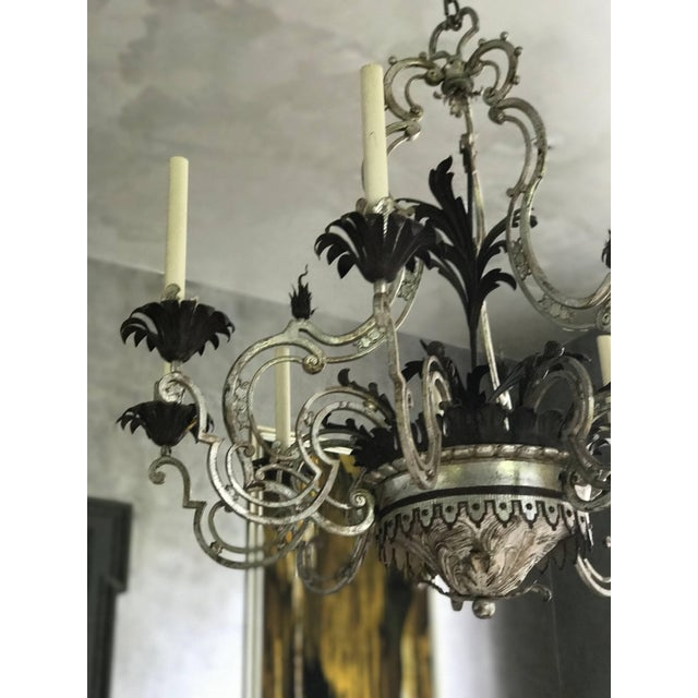 Wrought Iron Chandelier For Sale - Image 4 of 7