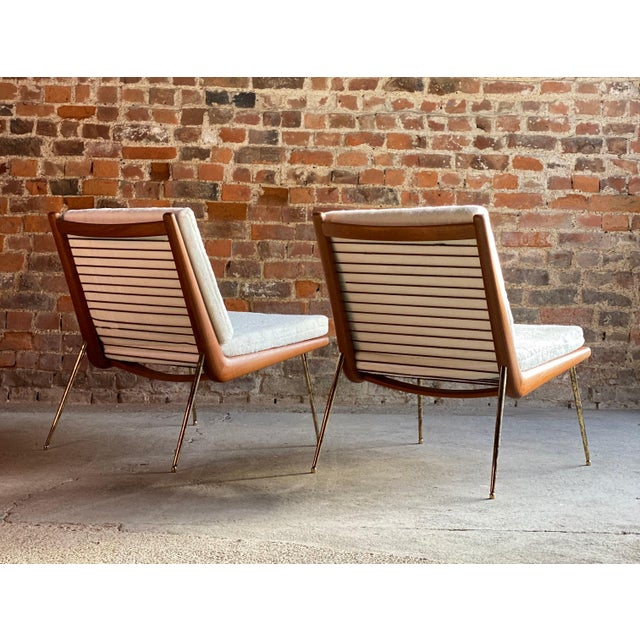 Mid-Century Modern Boomerang Chairs France & Son Peter Hvidt & Orla Mølgaard Nielsen, 1950s - A Pair For Sale - Image 3 of 13
