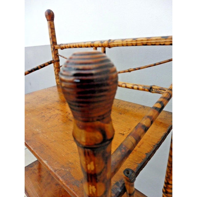 Early 19th Century 19th Century Victorian 4 Tier Bamboo Etagere For Sale - Image 5 of 10