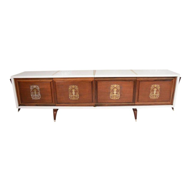 Stunning and Rare Mid-Century Modernist Custom Credenza, Mexico, 1950s For Sale