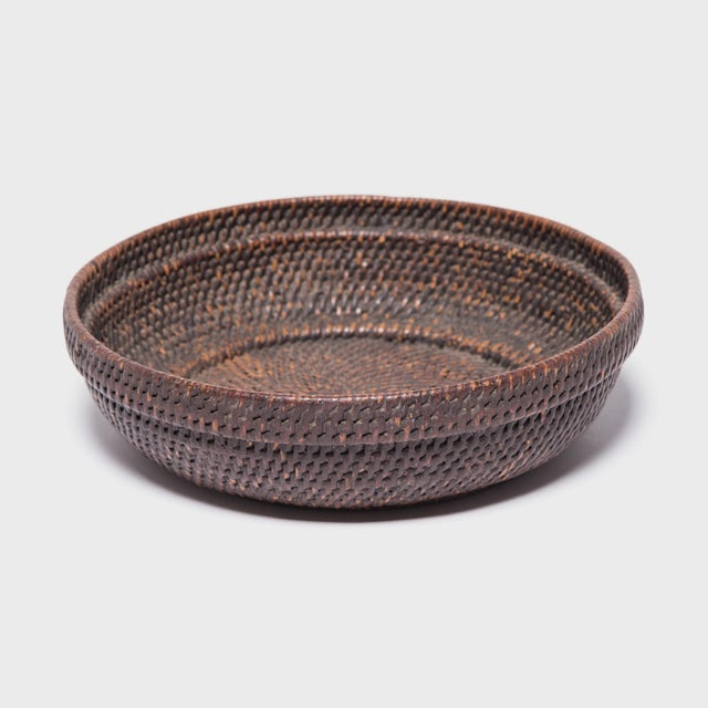 Early 20th Century Chinese Woven Offering Plate For Sale - Image 5 of 6