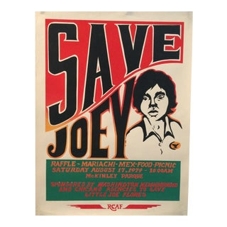1974 Save Joey Poster by the Rcaf Royal Chicano Art Force