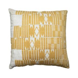 Vintage Aso Oke Textile Pillow For Sale