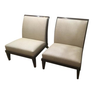Holly Hunt Sri Lanka Chairs- a Pair For Sale