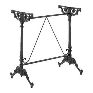 French Style Cast Iron Base Garden Table or Bistro Table For Sale
