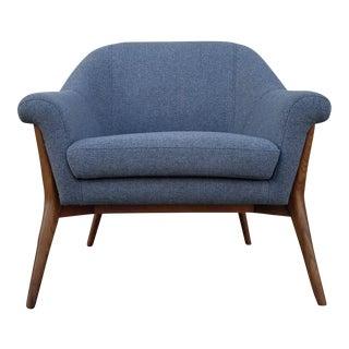 Walnut Grey Lounge Chair