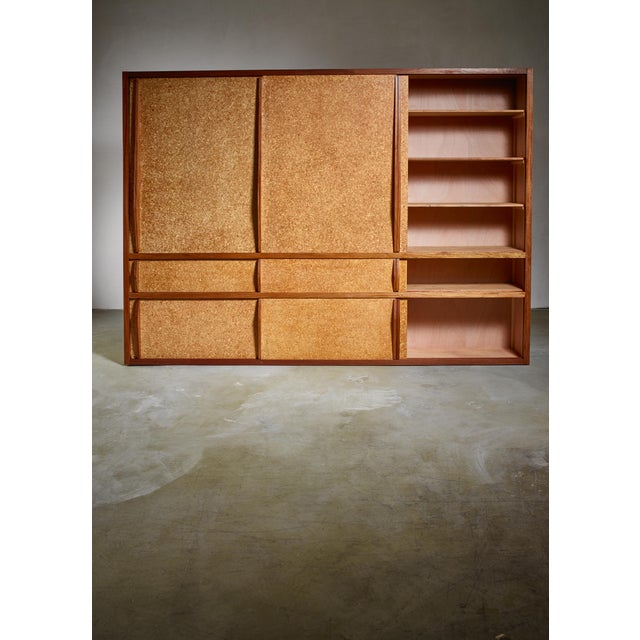 Mid-Century Modern Rare and Complete Charlotte Perriand & Jean Prouve Cupboard From Le Mans For Sale - Image 3 of 7