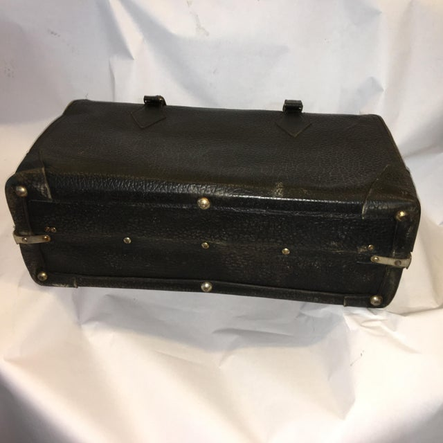 Vintage Carson Quality Seal Skin Suitcase For Sale - Image 10 of 11