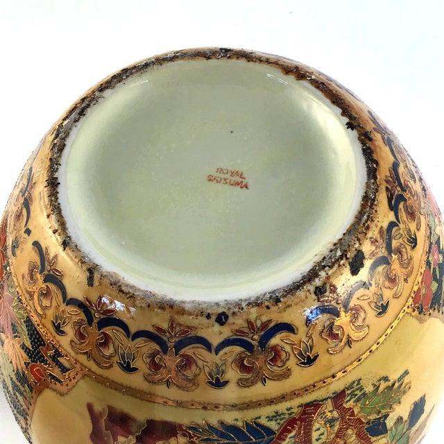 1900s Japanese Royal Satsuma Ginger Jar For Sale - Image 11 of 12