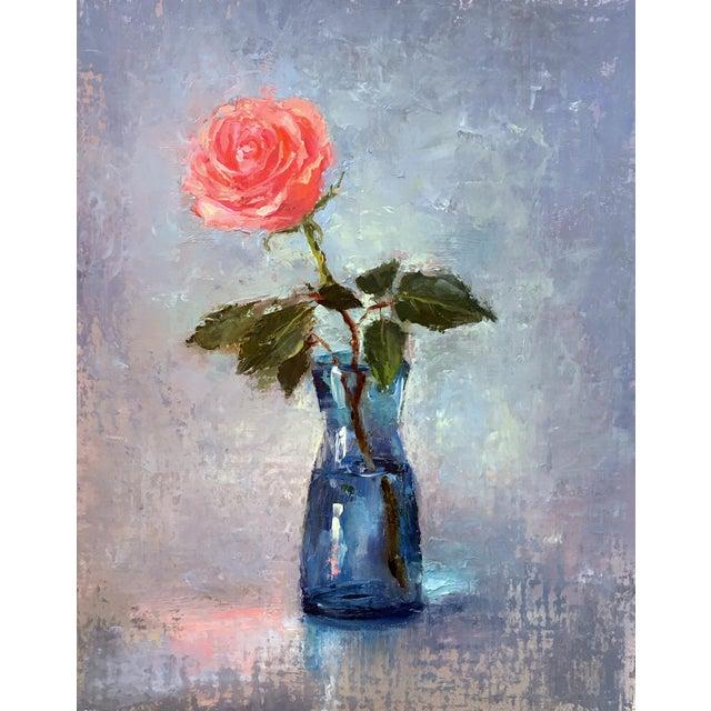 """Rose"" Original Oil Painting - Image 2 of 5"