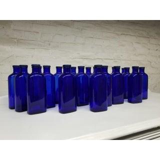 "Vintage ""Blue Coral Treatment"" Glass Bottles - Set of 12 Preview"