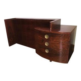1940s Mid-Century Modern Herman Miller Gilbert Rohde Signed Vanity For Sale