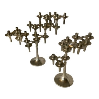 Pair of Fritz Nagel Candle Holders