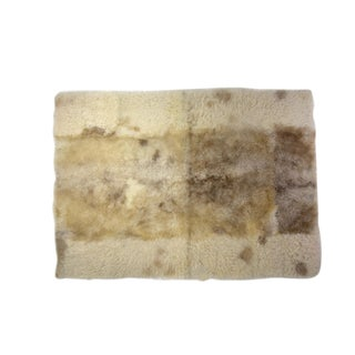 "Sheep Wool Rug Beige 2'6""x3'5"" For Sale"