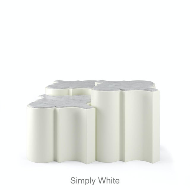 Contemporary Sofia Nesting Tables, Set of 3 - Simply White For Sale - Image 3 of 6