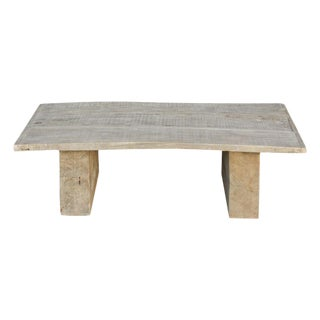 Rustic Elm Wood Coffee Table For Sale