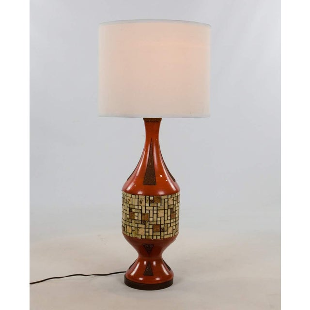 Mid-Century Modern Mid-Century Ceramic and Tile Westwood Table Lamps - a Pair For Sale - Image 3 of 13