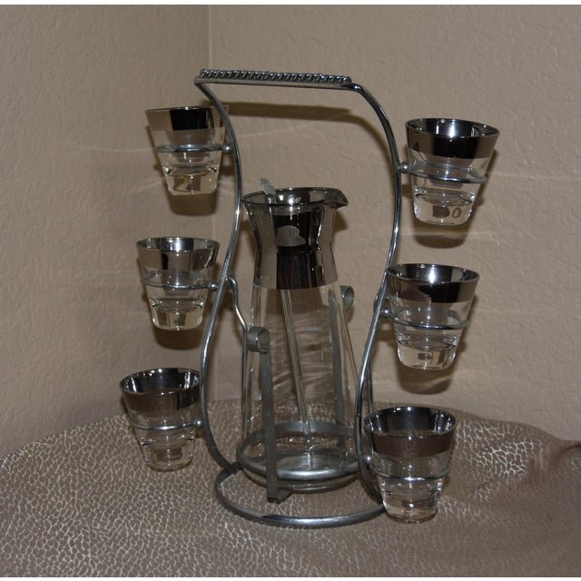 Chrome 1950s Dorothy Thorpe Mad Men Style Cocktail Set - 9pc Se For Sale - Image 8 of 8