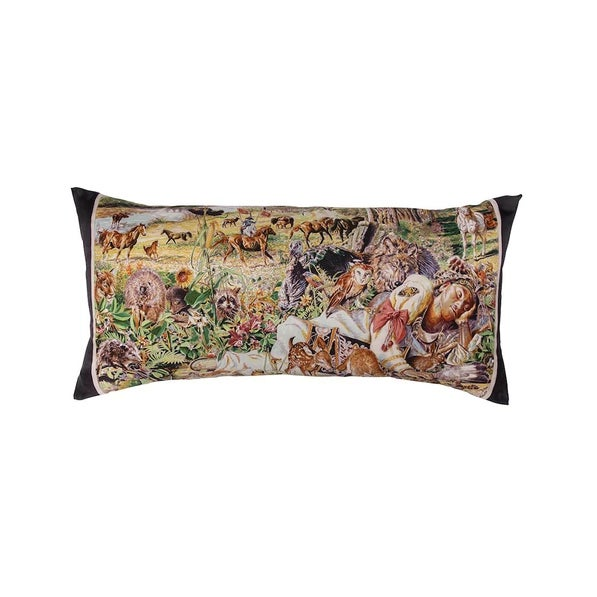 """Contemporary """"Madison Avenue"""" Hermès Silk Scarf Pillow For Sale - Image 3 of 3"""