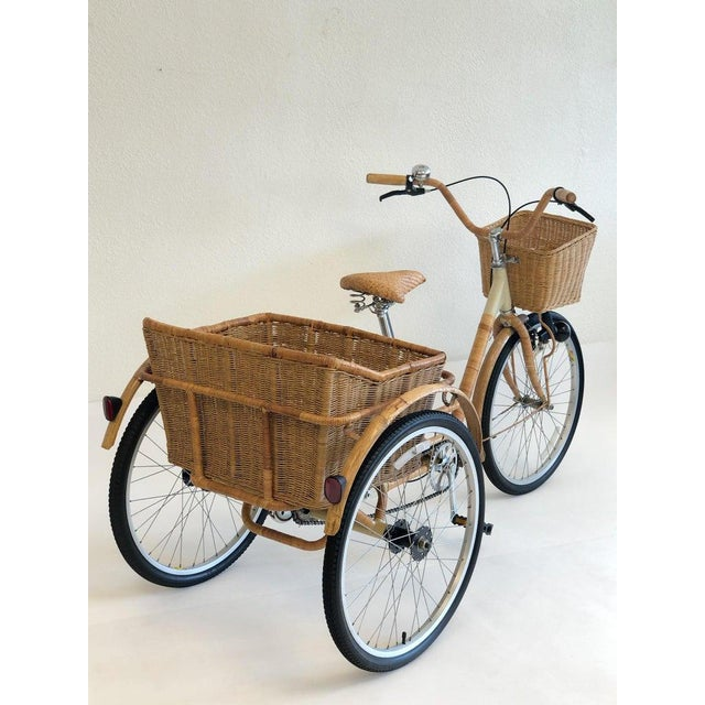 Bamboo Wicker and Bamboo Tricycle For Sale - Image 7 of 12