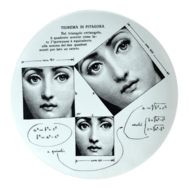 Fornasetti Tema E Variazioni Plate, Number 183 - Image 1 of 3