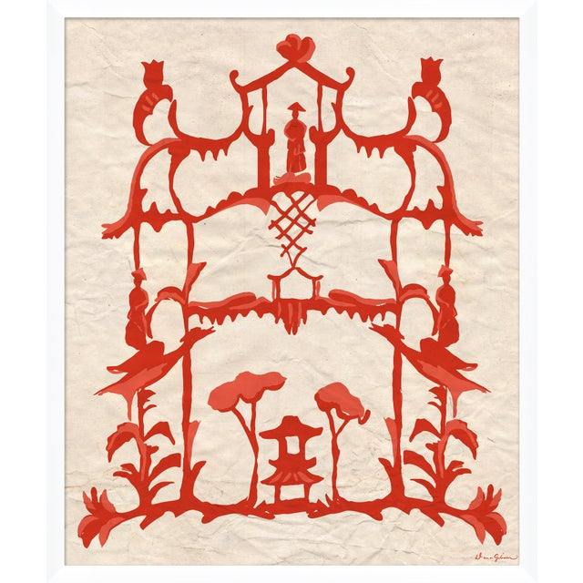 "Contemporary ""Folly in Red"" By Dana Gibson, Framed Art Print For Sale - Image 3 of 3"