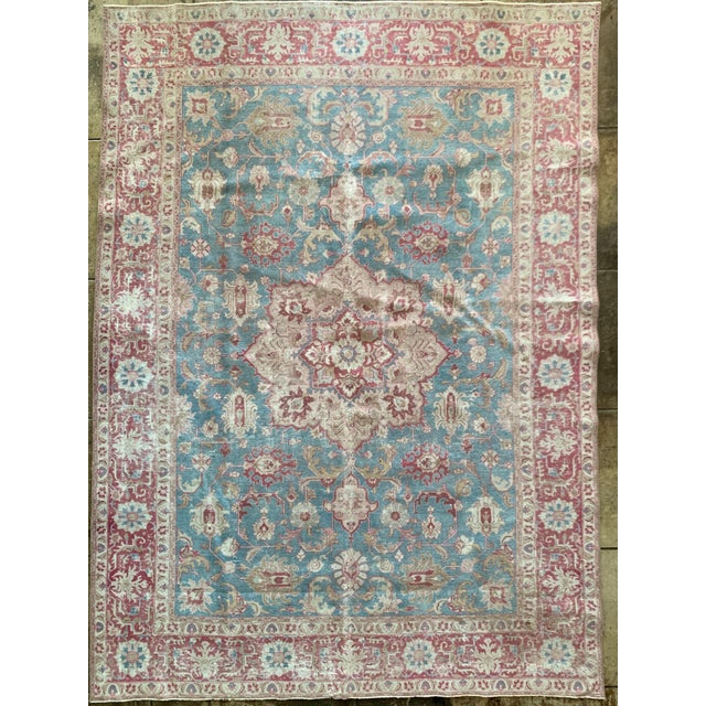 """Persian Tapriz Rug 1930s 10'8"""" X 7' 6"""" For Sale - Image 10 of 10"""
