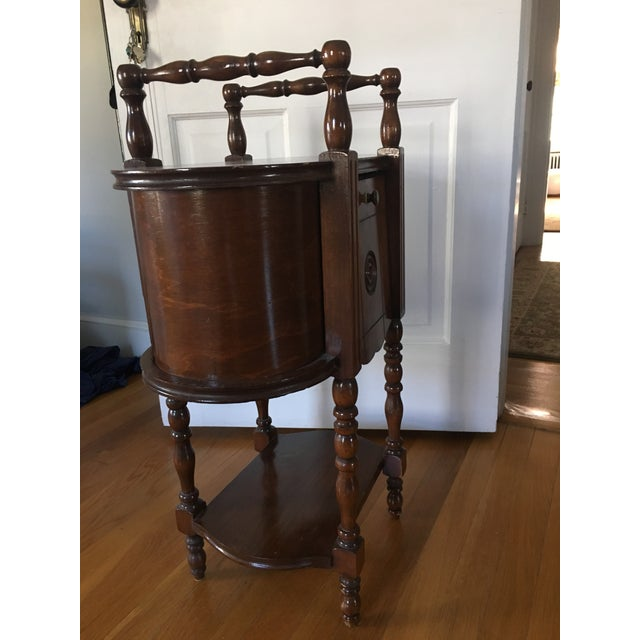 Antique Copper Lined Smoking Stand For Sale - Image 4 of 5