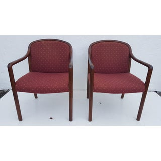 Authentic Mid-Century Modern Gunlocke Arm Chairs a Pair Preview