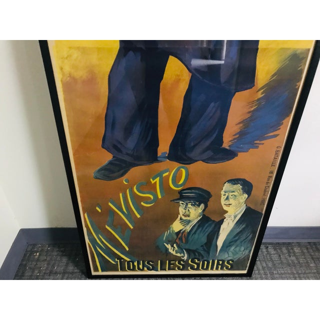 Late 19th Century Antique French a La Scala Mévisto Framed Poster For Sale - Image 5 of 11