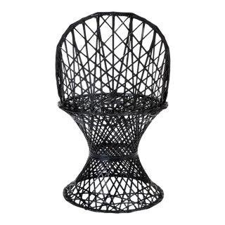 Spun Fiberglass Patio Dining Side Chair by Woodard Furniture
