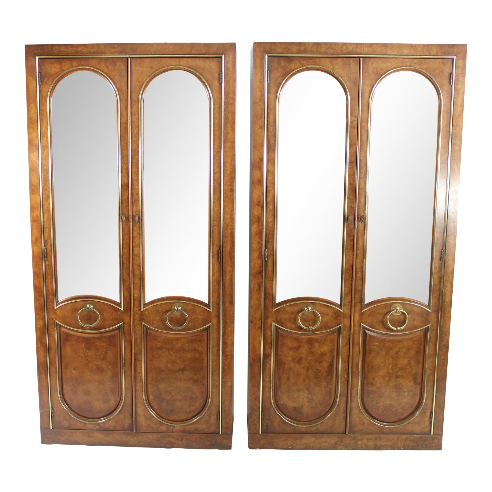 Weiman China Curios Display Cabinets A Pair Chairish