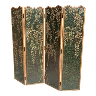 Martland Smith Weeping Wisteria 4 Panel Screen For Sale