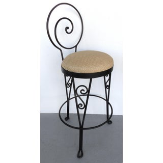 Mid-Century Modern Sculptural Wrought Iron Bar Stool-9 Available Preview