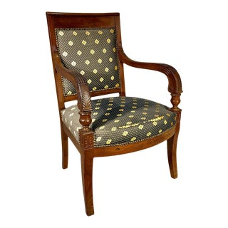 Early 19th Century French Restauration Period Armchair For Sale