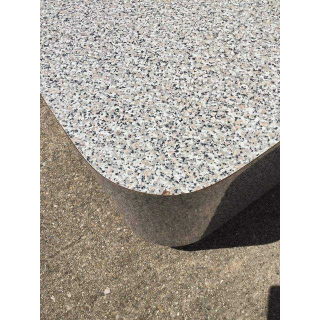 Gray 1980s AbstractGranite Laminate Modular Pedestal Table Set - 2 Pieces For Sale - Image 8 of 11