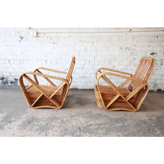 Bamboo Bamboo Pretzel Chairs Attributed to Paul Frankl - A Pair For Sale - Image 7 of 10