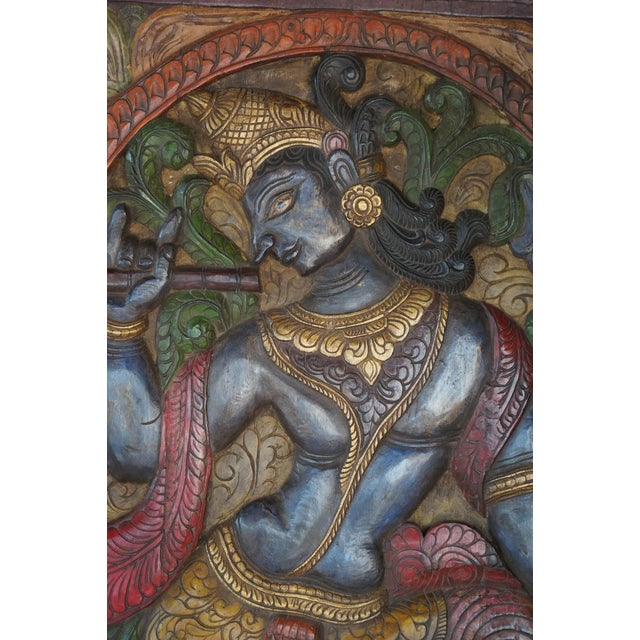 Antique Vintage Hand carved Kaliya in Hindu traditions, was a poisonous Naga living in the Yamuna river, in Vrindavan. The...