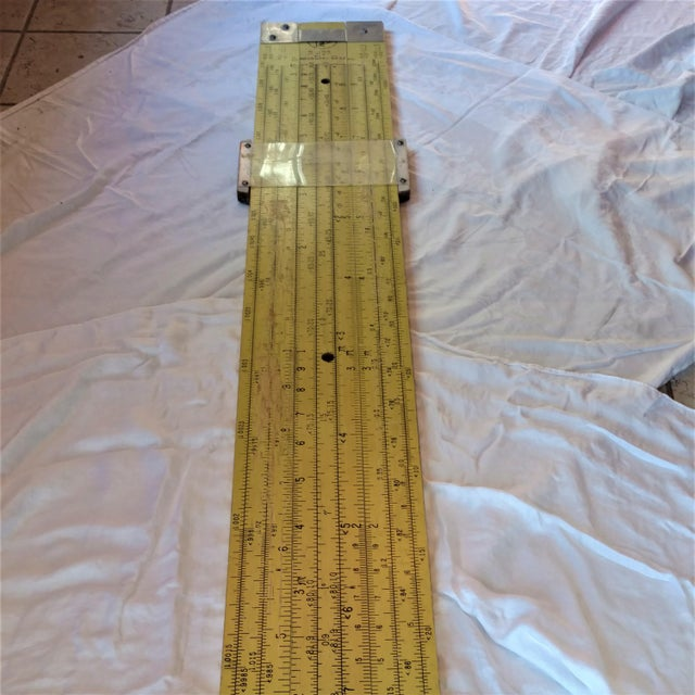 Yellow 7 Foot Huge Pickett Teachers Slide Rule   Chairish
