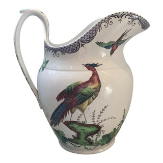 Traditional Inspired Copeland Late Spode Asiatic Pheasant Ceramic Pitcher