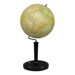 Antique Vienna Earth Globe By G. Freytag & Berndt Ca.1920 For Sale