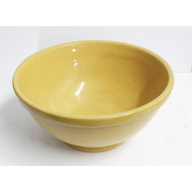 American Enormous Yelloware Bowl For Sale - Image 3 of 7