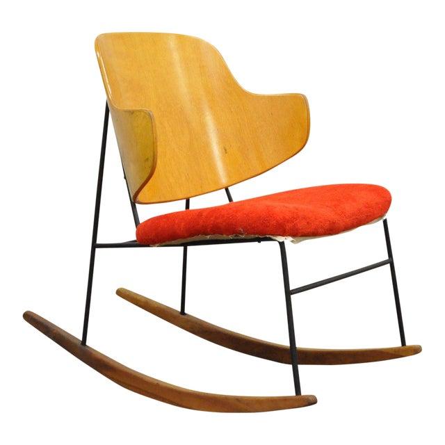 Vintage Mid Century Danish Modern Lb Kofod Larsen Penguin Rocking Chair Rocker - Image 1 of 11