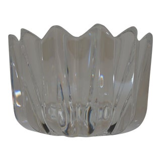 Vintage Orrefors Sweden Crystal Bowl Designed by Jan Johansson For Sale