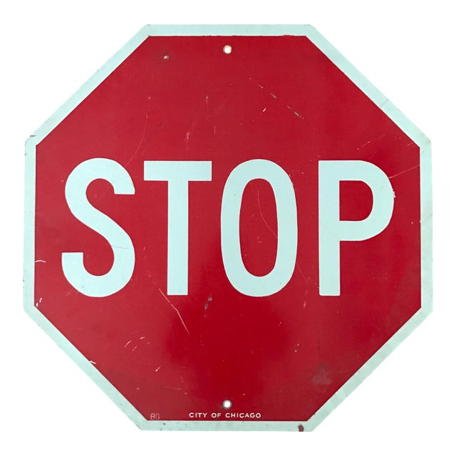 Vintage City of Chicago Stop Sign - Image 1 of 3