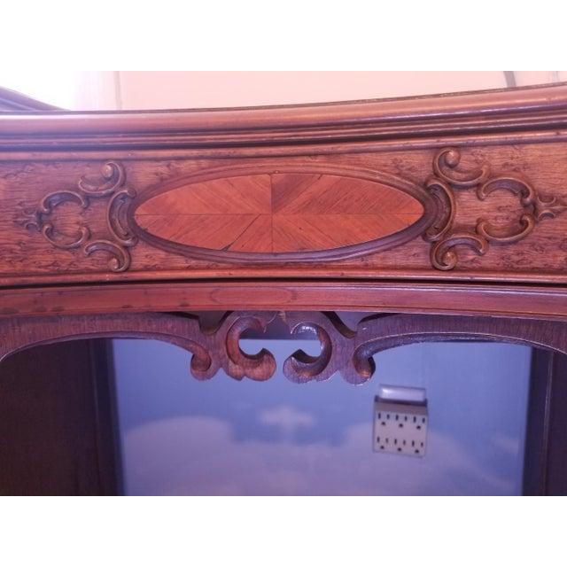 Williamsport Walnut Burl & Mahogany Vanity Table - Image 7 of 11